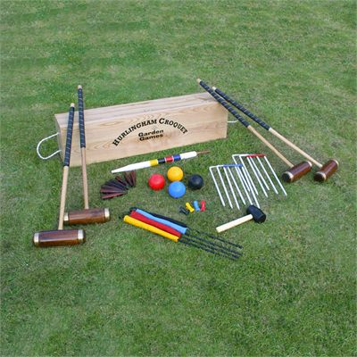 Garden Games Hurlingham 4 Player Croquet Set - On the Grass