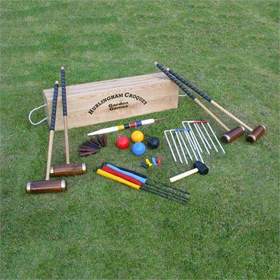 Garden Games Hurlingham 4 Player Croquet Set - On the Grass