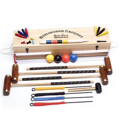 Garden Games Hurlingham 4 Player Croquet Set