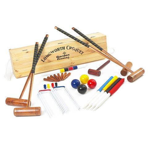 Garden Games Longworth 4 Player Croquet Set in a Box