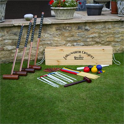 Garden Games Longworth 4 Player Croquet Set - On The Grass