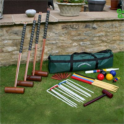 Garden Games Longworth Croquet Set - In Use