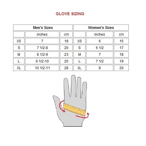Workout Gloves Size Chart: GoFit Pro Weight Lifting Gloves Inc CD Rom