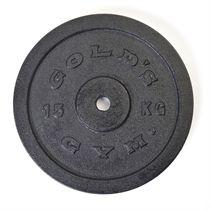 Golds Gym 15kg Cast Iron Standard Weight Plate