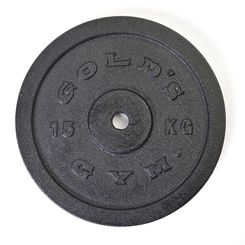Golds Gym 15kg Cast Iron Standard Weight Plate