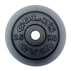 Golds Gym 2.5kg Cast Iron Standard Weight Plate
