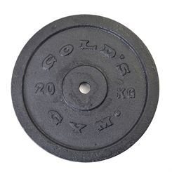 Golds Gym 20kg Cast Iron Standard Weight Plate