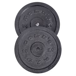 Golds Gym 2 x 15kg Cast Iron Standard Weight Plates