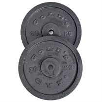 Golds Gym 2 x 20kg Cast Iron Standard Weight Plates