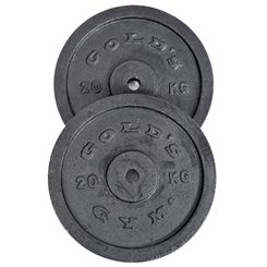 Golds Gym 2 x 20kg Cast Iron Standard Weight Plates