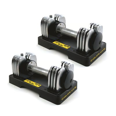 Golds Gym 2 x 20kg Transformer Dumbbells