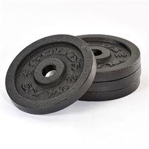 Golds Gym 4 x 2.5kg Cast Iron Standard Weight Plates