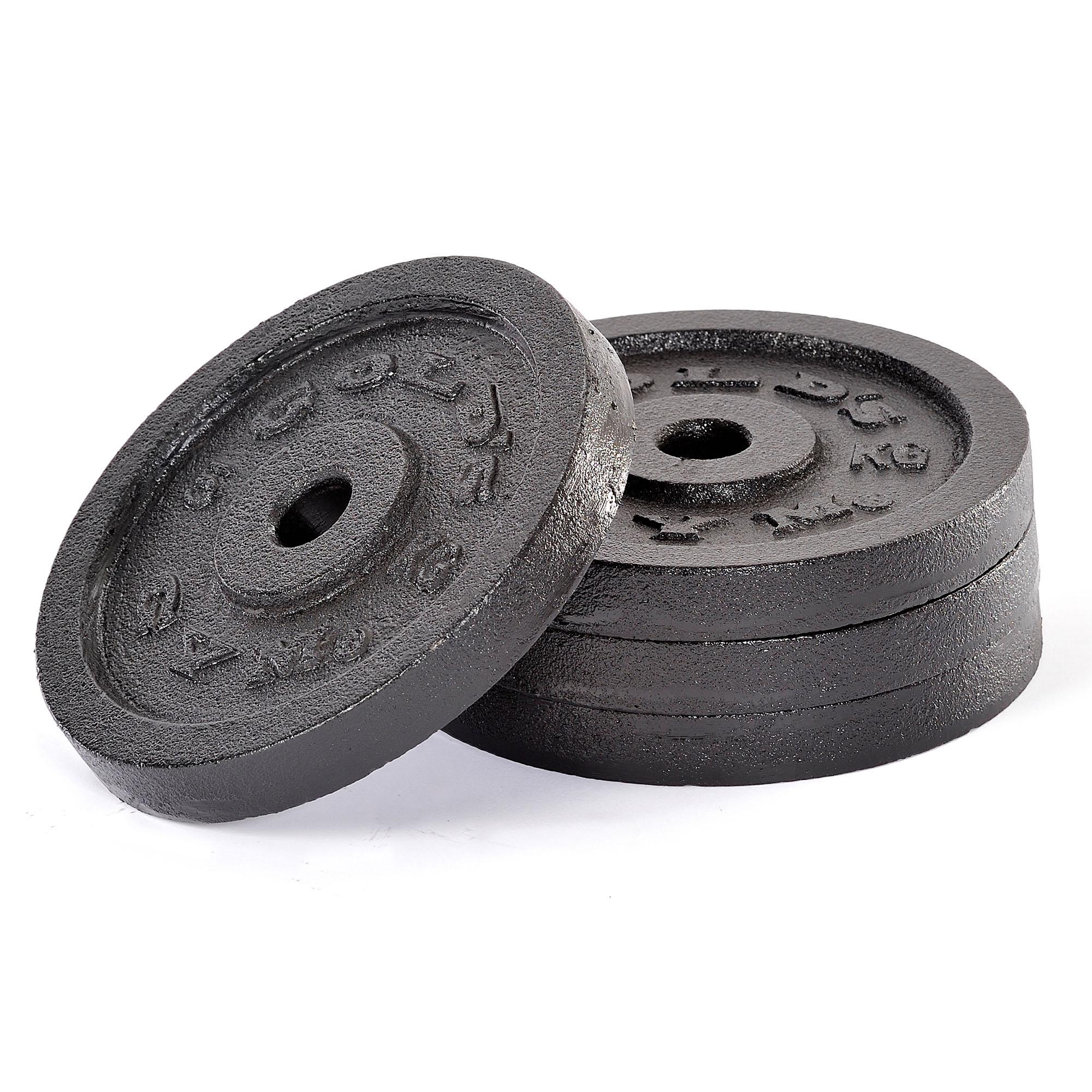 Fitness Equipment Golds Gym 4 x 5kg Cast Iron Standard Weight Plates