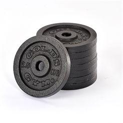 Golds Gym 8 x 2.5kg Standard Cast Iron Weight Plates