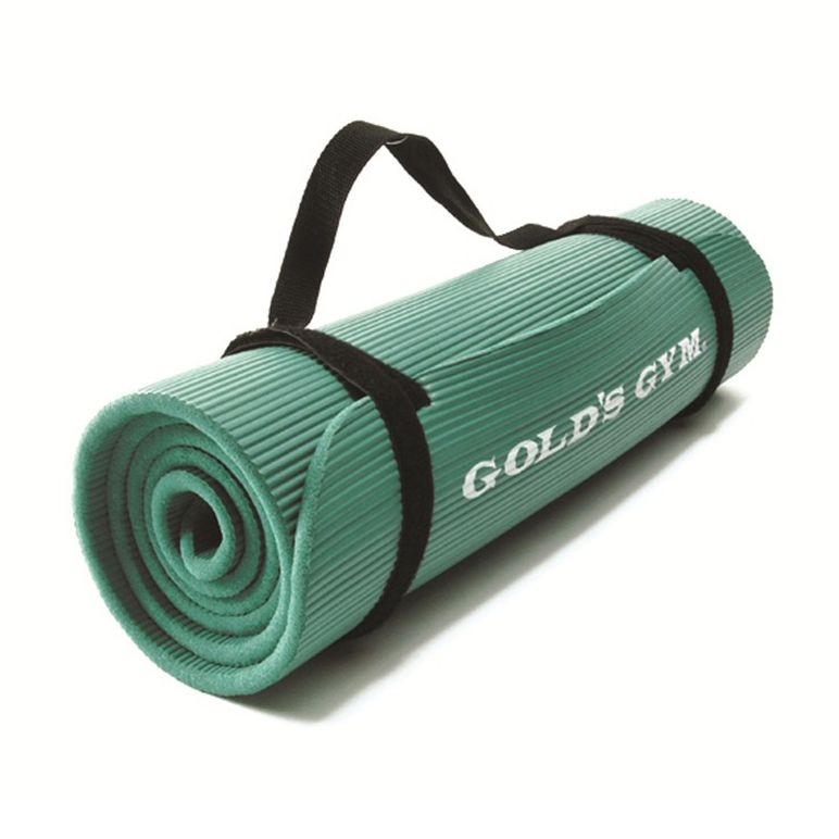 Golds Gym Ribbed Rubber Mat