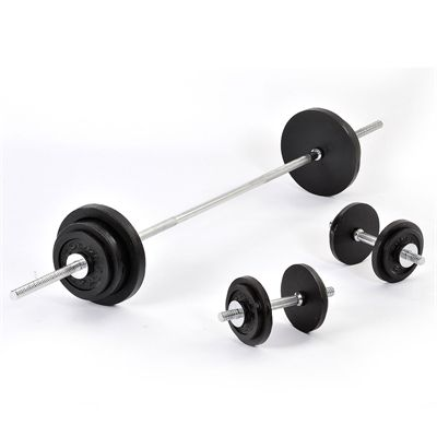 Golds Gym Standard 70kg Barbell Dumbell weight set