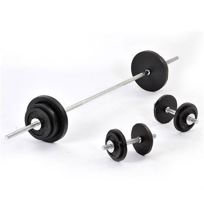 Golds Gym Standard 70kg Barbell Dumbell weight set
