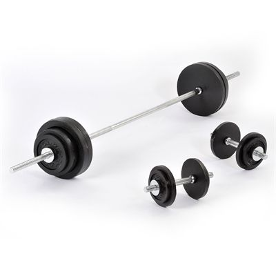 Golds Gym Standard 90kg Barbell Dumbell weight set