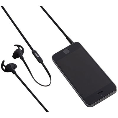 Groov-e Sport Buds Earphones with Remote Microphone-Black-Image