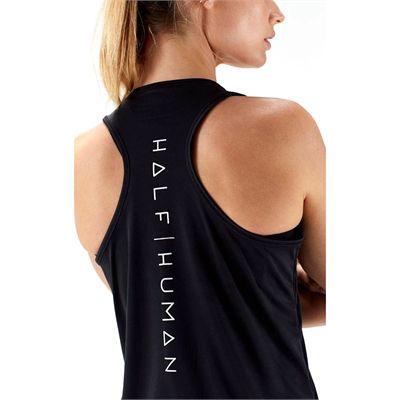 Half Human Ladies Racerback Vest Top - Back