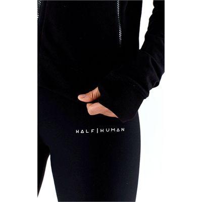 Half Human Ladies Zip Hoodie - Logo