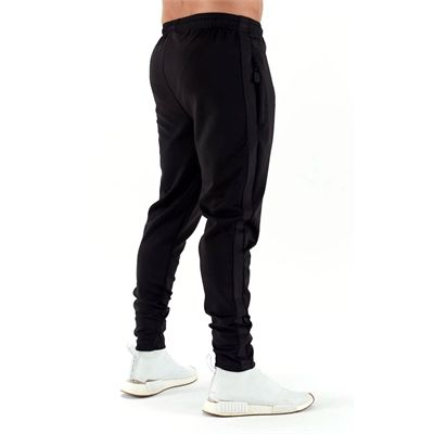 Half Human Mens Poly Tapered Tracksuit Joggers - Back
