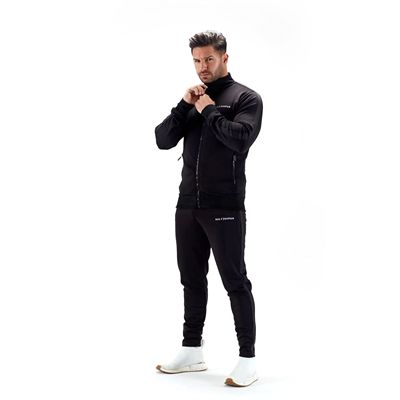 Half Human Mens Poly Tapered Tracksuit Joggers - Model
