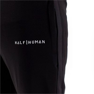 Half Human Mens Poly Tapered Tracksuit Joggers - Model Back - Zoom