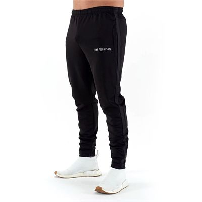 Half Human Mens Poly Tapered Tracksuit Joggers