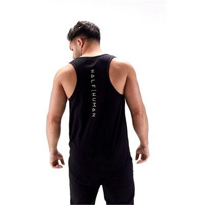 Half Human Mens Stringer Tank Vest - back