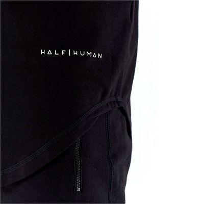 Half Human Mens Stringer Tank Vest - logo