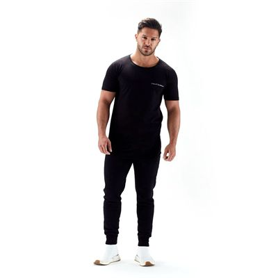 Half Human Mens Tapered Fit Joggers - Front