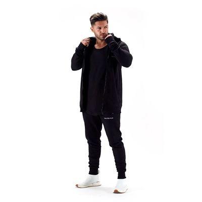 Half Human Mens Zip Hoodie - Model - Front