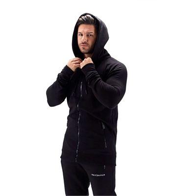 Half Human Mens Zip Hoodie - Model