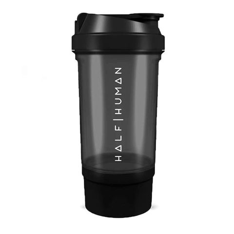 Half Human 500ml Protein Shaker Bottle