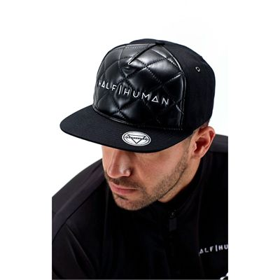 Half Human Quilted Snapback Hat - Man