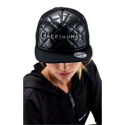 Half Human Quilted Snapback Hat - Woman