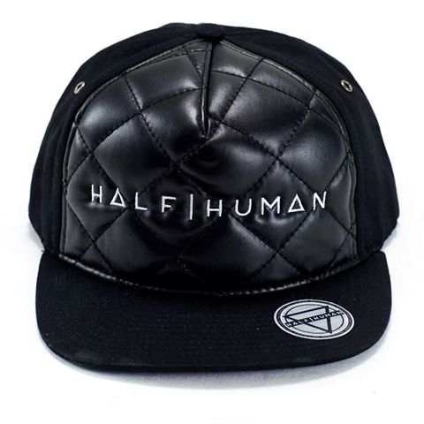 Half Human Quilted Snapback Hat
