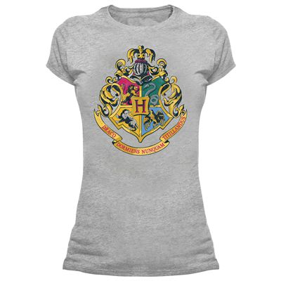 Harry Potter Hogwarts Crest Skinny Fit T-Shirt