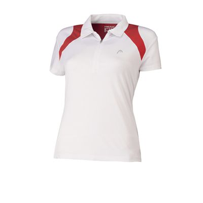 Head Club Girls Polo Shirt White Red