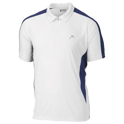 Head Club Mens Polo White Navy