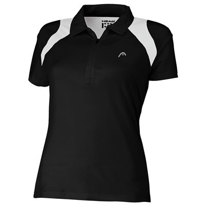 Head Club Womens Polo Shirt Black White