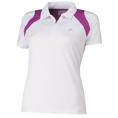 Head Club Womens Polo Shirt White Violet