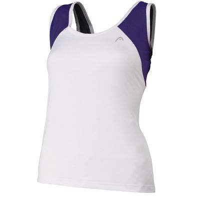 Head Club Womens Tank Top Violet White