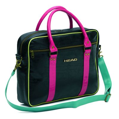 Head Ladies Travel Laptop Bag Black Electric
