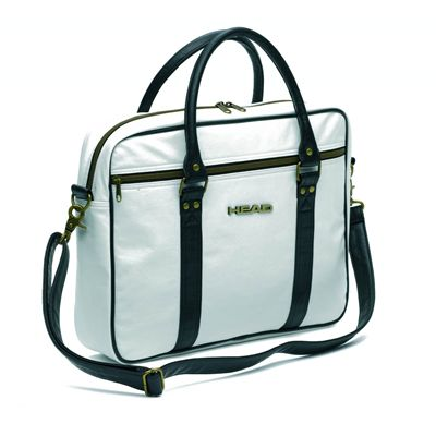 Head Ladies Travel Laptop Bag White Black