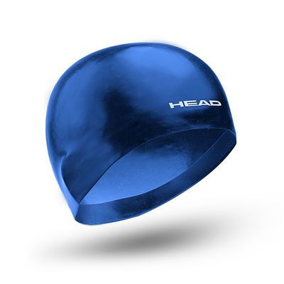 Head 3D Racing Swimming Cap Size M - Blue