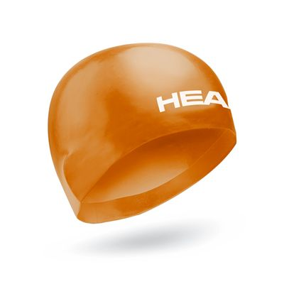 Head 3D Racing Swimming Cap Size M - Orange