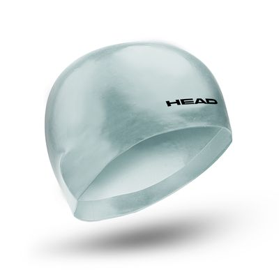Head 3D Racing Swimming Cap Size M - Silver