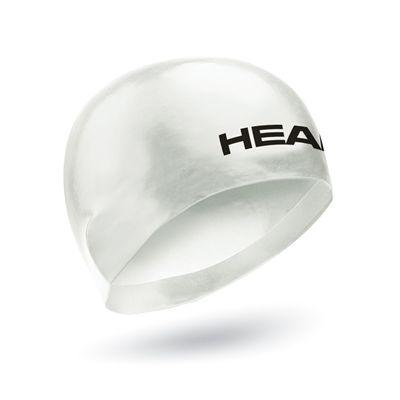 Head 3D Racing Swimming Cap Size M - White